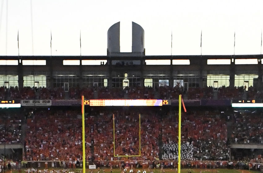 Clemson Football Tiger Fans Killed It During Disney Movie Filming The rock is mounted on a pedestal at the top of the hill and was given to coach frank howard by a friend (s.c. https rubbingtherock com 2019 09 21 clemson football tiger fans killed disney movie filming
