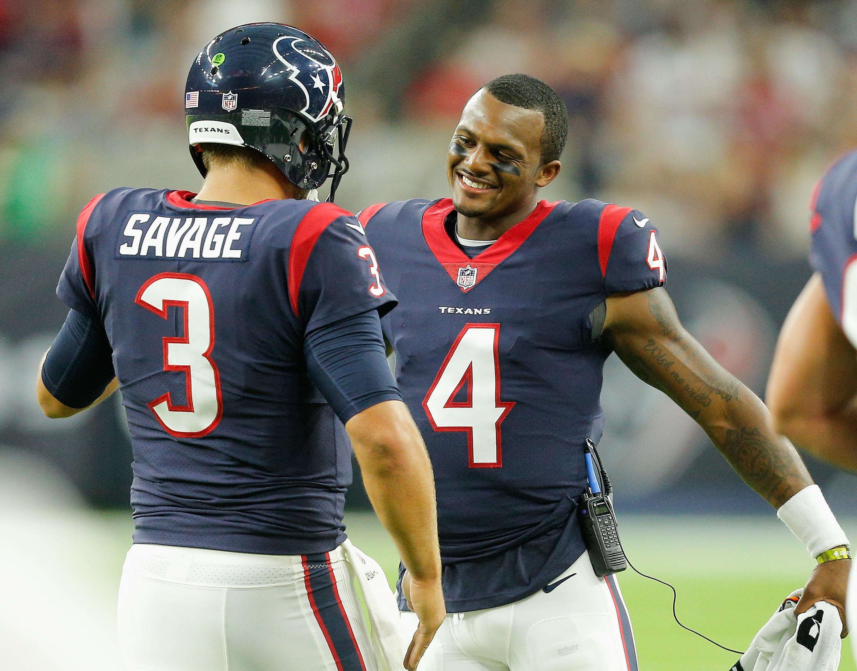Texans' Quarterback Tom Savage Speaks Highly of Deshaun Watson